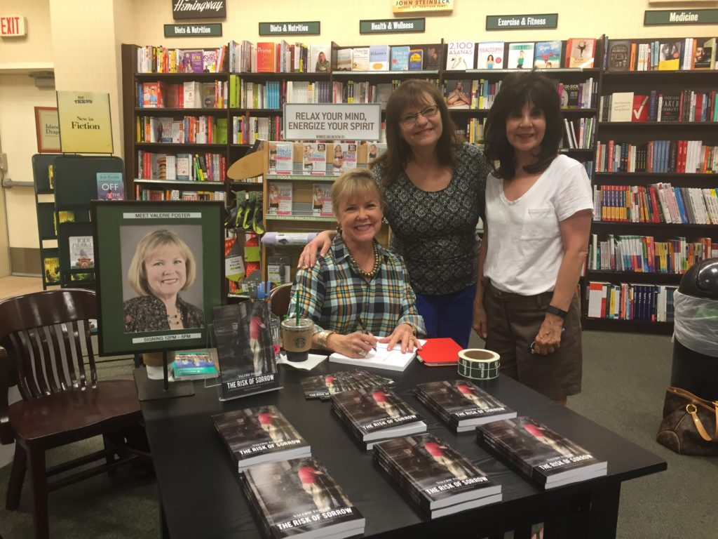 Friends, Kari Bowman and Linda Abbott at Barnes & Noble book-signing